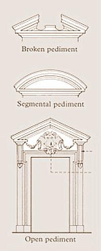 ancient greeks and romans broke their pediments alberti s window