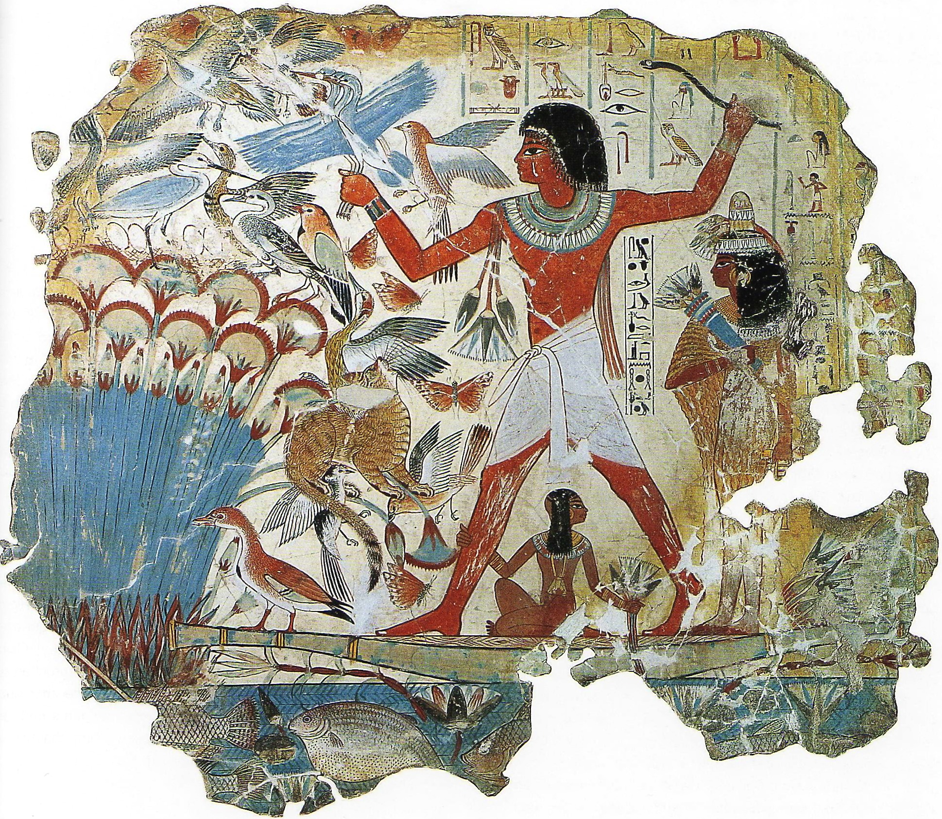 Marshes in ancient egyptian art alberti s window for Define mural art