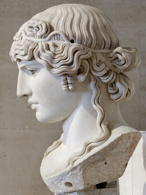 Antinous Mondragone, c. 130 CE. 95 cm (31 inches) height. Louvre. Image courtesy Wikipedia.