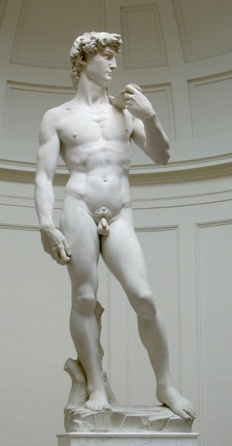 "Michelangelo, ""David,"" 1501-1504. Image via Wikipedia, courtesy of Rico Heil."