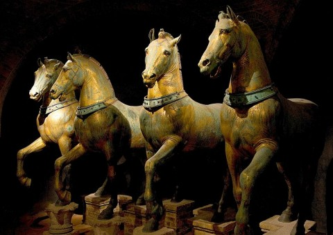 Quadriga (Four Horses) of Saint Mark's, probably 2nd to 4th centuries CE. Image courtesy Wikipedia