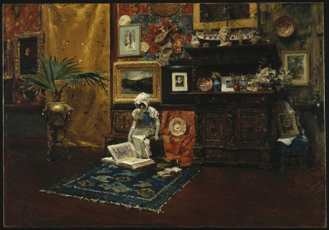 "William Merritt Chase, ""Studio Interior"""