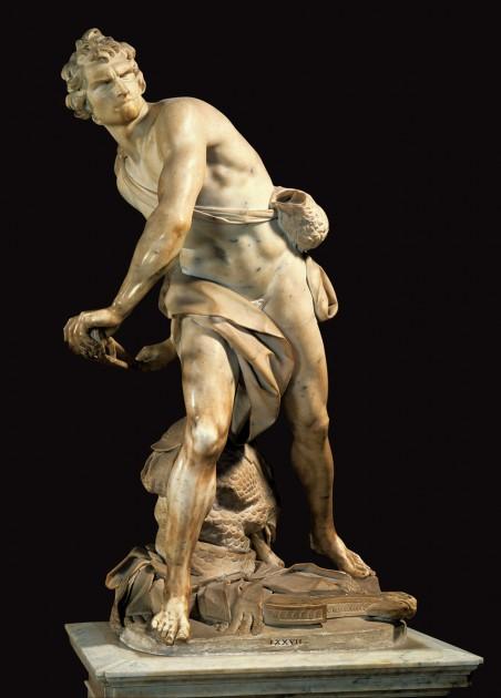 Gianlorenzo Bernini, David, 1623-24. Marble, Galleria Borghese, Rome
