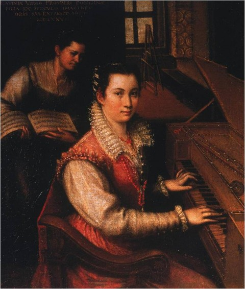 "Lavinia Fontana, ""Self-Portrait at the Spinet,"" 1577"
