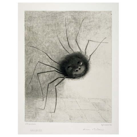 Odilon Redon, Smiling Spider, 1887, Courtesy British Museum