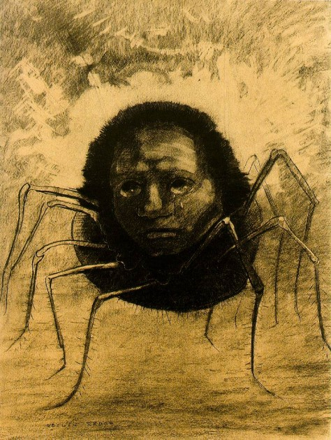 Odilon Redon, The Crying Spider, 1881.
