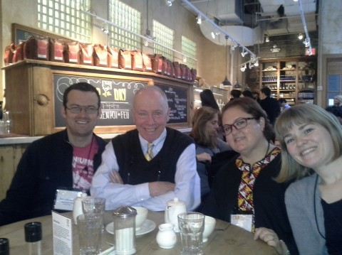Ben, Frank, Sedef and I met in New York during CAA conference of February 2013. We took this photo for Hasan, since he couldn't join us.