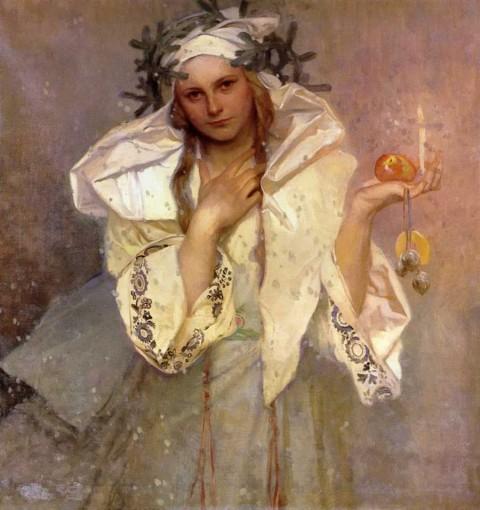 """Alphonse Mucha, """"Christmas in America,"""" 1919"""