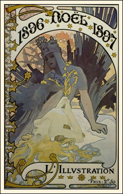 "Mucha, ""Noel"" cover for ""L'Illustration,"" 1896"