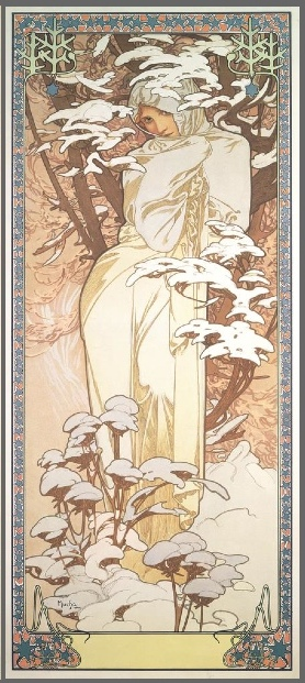 "Alphonse Mucha, ""Winter"" from ""The Four Seasons,"" 1900"