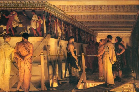 Lawrence Alma Tadema, Phidias Showing the Frieze of the Parthenon to his Friends, 1868. Image courtesy of Wikipedia