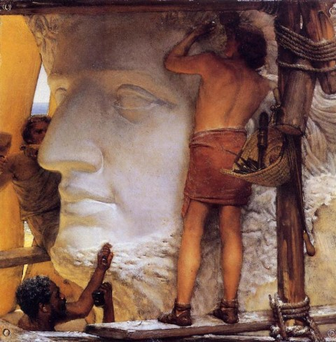 "Lawrence Alma-Tadema, ""Sculptors in Ancient Rome,"" 1877. Private collection, image courtesy of WikiArt"