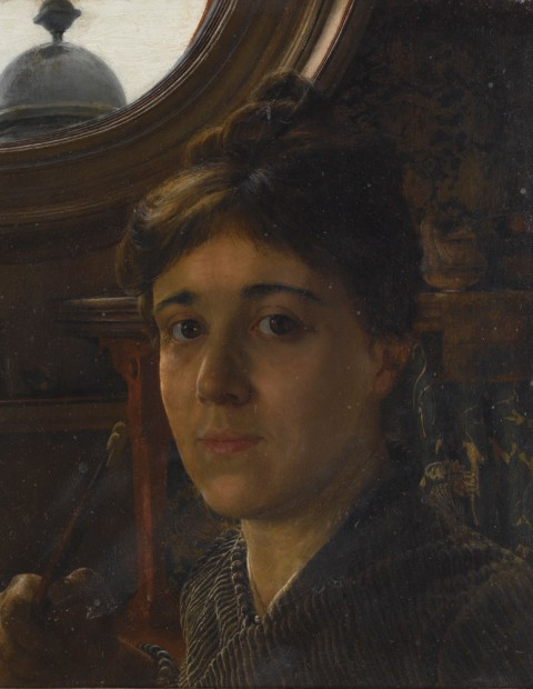 Anna Alma-Tadema (1865-1943), Self_Portrait, n.d. Oil on paper.