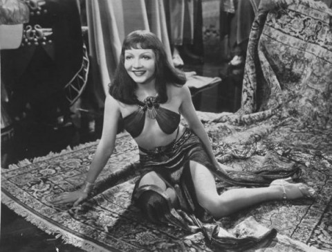 "Claudette Colbert in film ""Cleopatra"" (1937)"