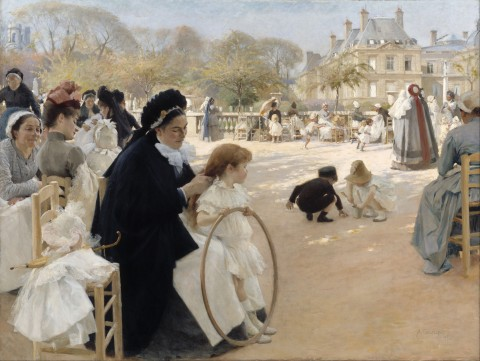 "Albert Edelfelt, ""The Luxembourg Gardens, Paris,"" 1887. Image courtesy Wikipedia."