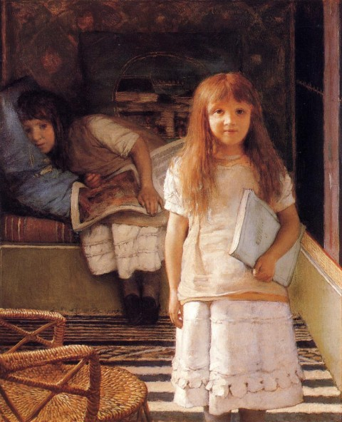 "Lawrence Alma-Tadema, ""This is Our Corner,"" 1872. Image courtesy Wikipedia"