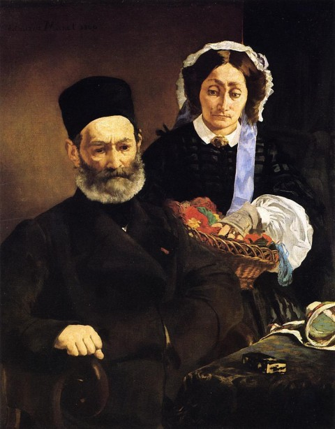 "Manet, ""Portrait Of M. And Mme. Auguste Manet"" (1860)"