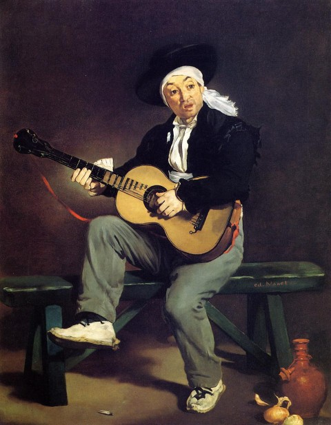"Manet, ""The Spanish Singer,"" 1860. Image courtesy WikiArt."