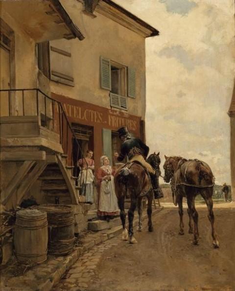 """Meissonier, """"L'Auberge au Pont de Poissy,"""" 1889"""