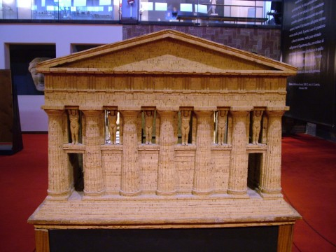 Model of the Temple of Zeus at Agrigento, Sicily (original perhaps begun c. 480 BE, although still under remodel in 2nd century BC and never completed).