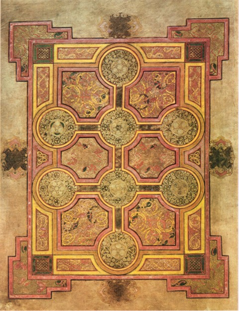 Carpet Page from the Book of Kells, folio 33r, c. 800. Painted illumination on vellum