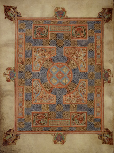 Lindisfarne, Carpet Page, Book of Mark, folio 94v, early 8th century