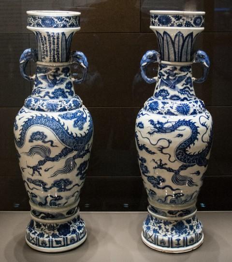 The David Vases, 1351 CE. Porcelain. Image courtesy Wikipedia.