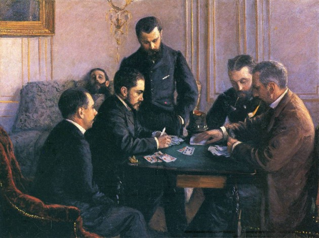 "Gustave Caillebotte, ""The Bezique Game,"" 1880"