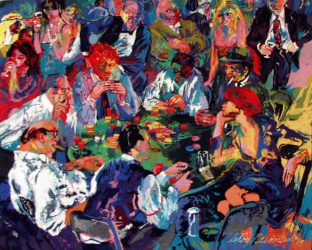 """LeRoy Neiman, """"Stud Poker,"""" 1980"""