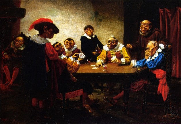 William Holbrook Beard, 'The Poker Game', 1887
