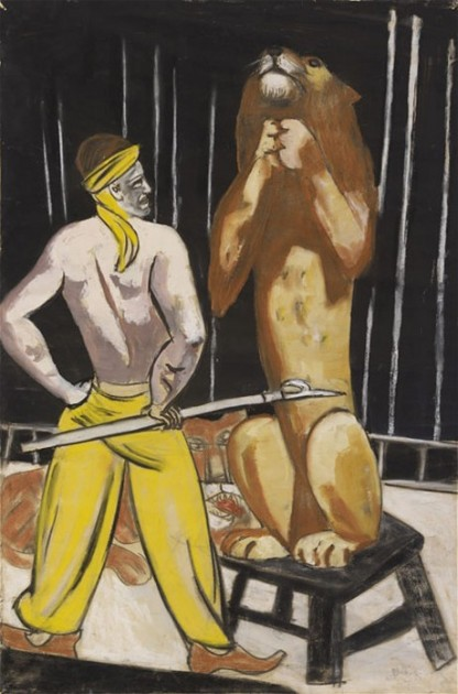 "Max Beckmann, ""The Lion Tamer."" Gouache and pastel on paper."