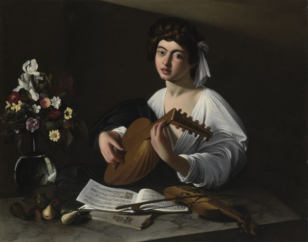 "Caravaggio (?) or Circle of Caravaggio, ""Apollo the Lute Player,"" c. 1597. Private Collection, USA (Ex-Badminton copy)"