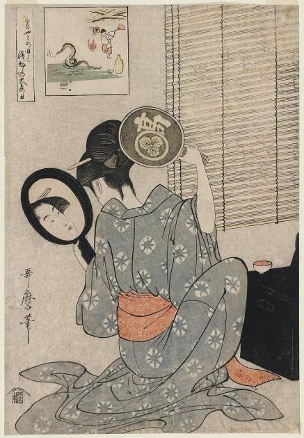 Kitagawa Utamaro, Takashima Ohisa, c. 1795. Woodblock print. Image courtesy Wikipedia