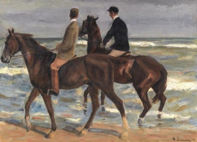 "Max Liebermann, ""Two Riders on a Beach,"" 1901."