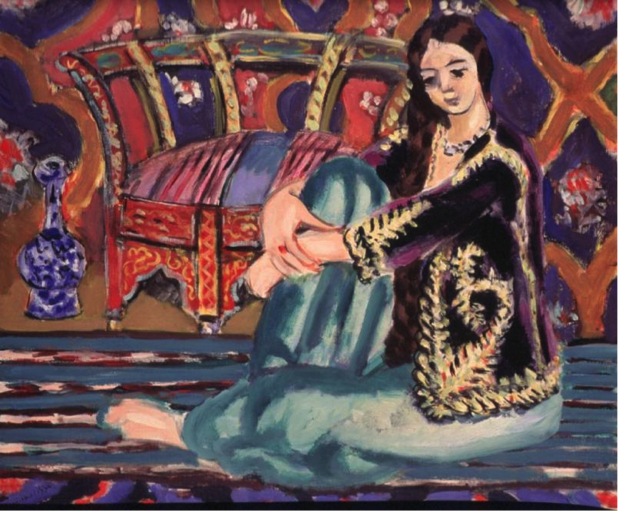 Matisse, Oriental Woman Seated on Floor (Odalisque), 1928. Private Collection