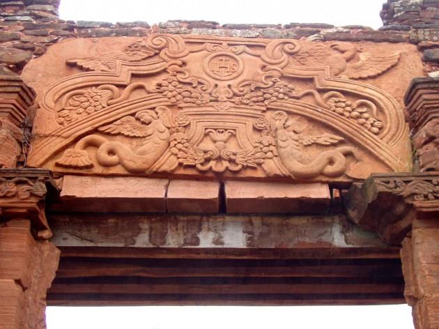 Detail of doorway at San Ignacio Mini, Argentina, 1727