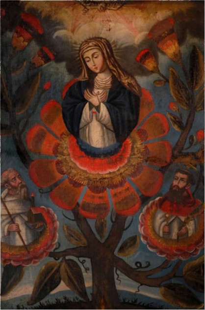 Our Lady of Mercy with Saints of the Order, 18th century. Archivo Museo de la Merced, Santiago