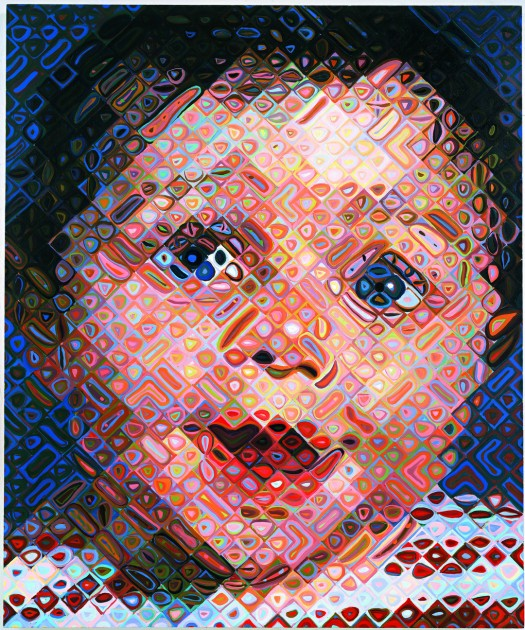 "Chuck Close, ""Emma,"" 2000. Oil on canvas"