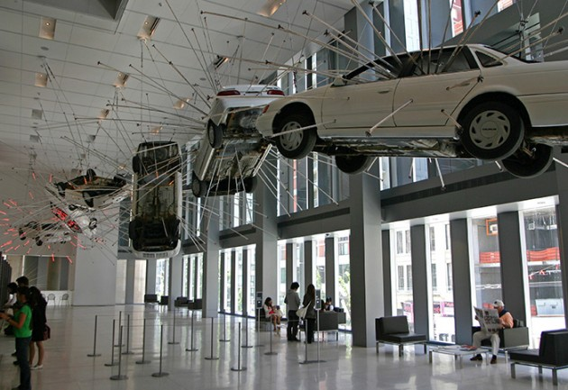 "Cai Guo-Qiang, ""Inopportune: Stage One"" (2004). Current display at Seattle Art Museum"