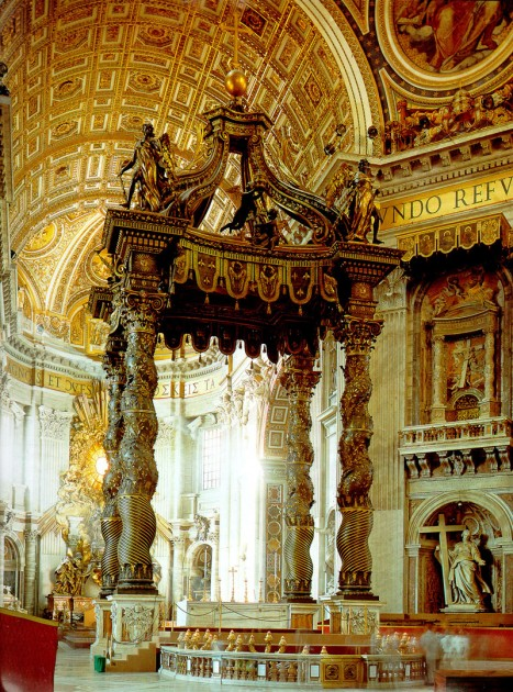 Bernini, Baldacchino, Saint Peter's Basilica, Vatican City, 1624-33.