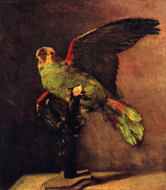 "Vincent Van Gogh, ""The-Green Parrot,"" 1886."