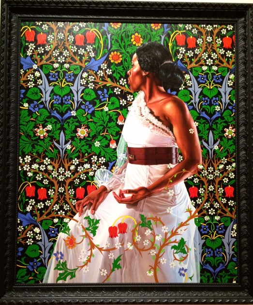 "Kehinde Wiley, ""Mrs. Siddons from the series 'An Economy of Grace,'"" 2012. Oil on canvas"