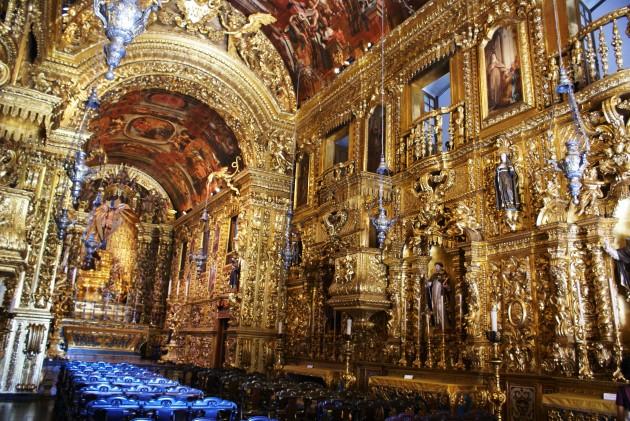 Interior of Igreja de São Francisco da Penitência, Rio de Janeiro. Constructed 1657-1733
