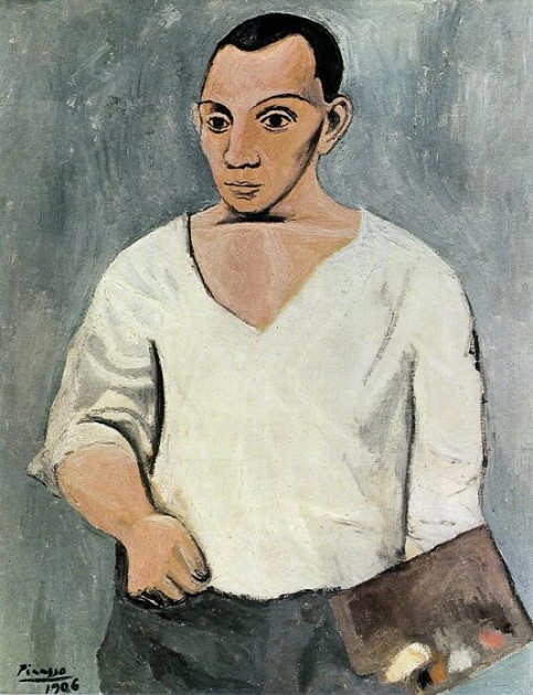 "Picasso, ""Self-Portrait with Palette,"" 1906"