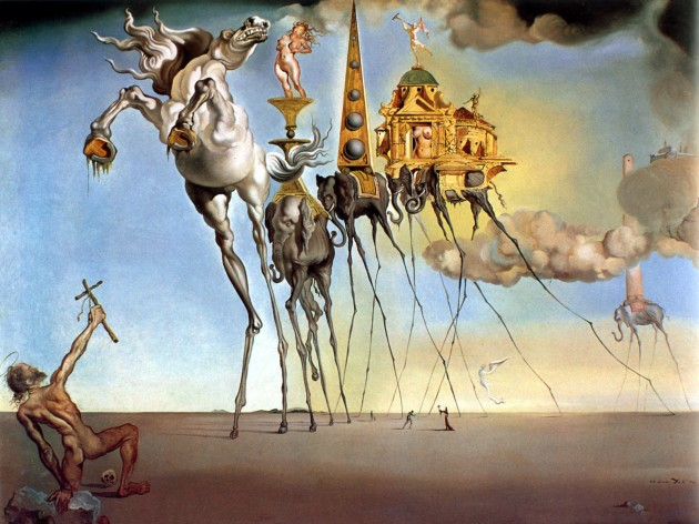 "Salvador Dali, ""The Temptation of Saint Anthony,"" 1946."