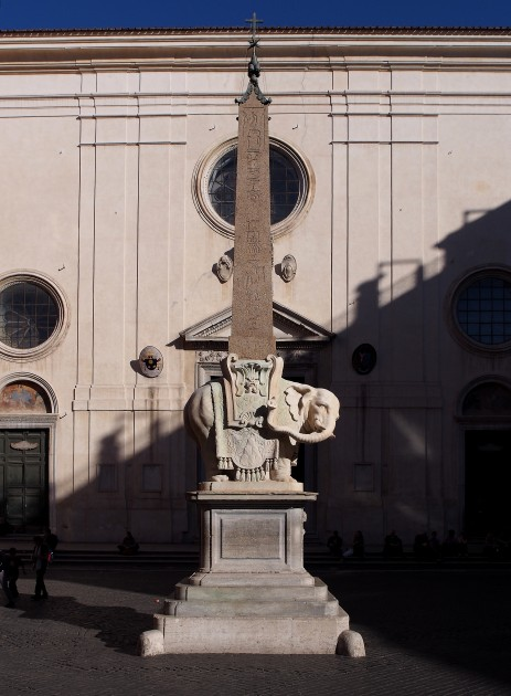 Bernini, elephant obelisk outside of Maria Sopra Minerva, 1667, Rome. Image via Wikipedia, courtesy of Petar Milošević