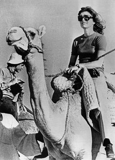 Jackie Kennedy Riding a Camel in Egypt, March 28, 1964
