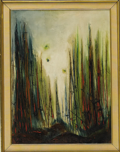 """James Dean, """"Road to Happiness,"""" c. 1954. Oil on canvas"""