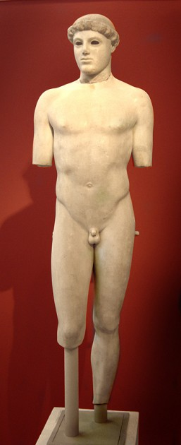 Kritios Boy, c. 480 BCE. Archaeological Museum, Athens. Image courtesy Wikipedia