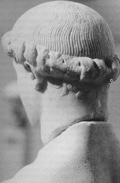 Kritios Boy, back of the head, c. 480 BCE
